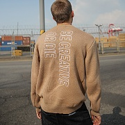 LOGO EMBROIDERED KNIT_BIEGE