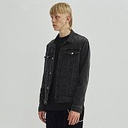 LIGHT WASHED DENIM JACKET GA [GREY]