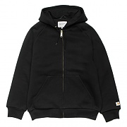 (I023777)HOODED THERMAL LINED JACKET-BLK