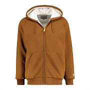 (I023777)HOODED THERMAL LINED JACKET-HAMILTON BROWN