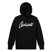 (I023845)HOODED STRAY SWEATSHIRT-BLK/WAX
