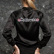 CALIFORNIA SATIN JACKET-BLACK