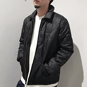 QUILTED WORK JACKET-BLACK