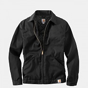 (J293)BLENDED TWILL WORK JACKET-BLK