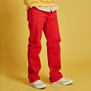 HEAVY TWILL COTTON PANTS _RED