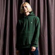 BASIC PULLOVER HOODIE-HUNTER GREEN