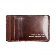 212# RIGID CORDOVAN Y CARD WALLET