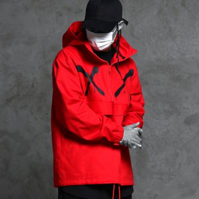 High neck half zip-up hood jacket