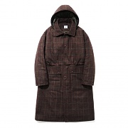 Hoody Check Long Coat