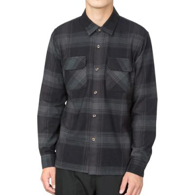 SHADOW PLAID LS SHIRT-BLK