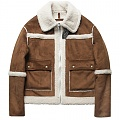 REVERSE DROP MOUTON PARKA-BROWN