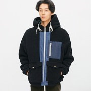 (11월28일 예약발송)Heavy Fleece Mixed Parka_Black