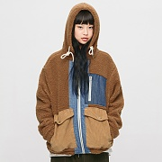 (11월21일 예약발송)Heavy Fleece Mixed Parka_Brown
