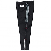 TAPING ZIPPER TRAINING PANTS -BLACK