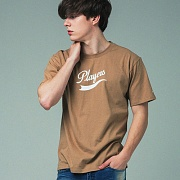 [어반플레이어스]TAIL LOGO SHORT SLEEVE T-SHIRTS (BEIGE)