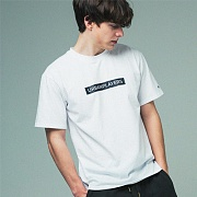 [어반플레이어스]RECTANGLE PRINT SHORT SLEEVE T-SHIRTS (WHITE)