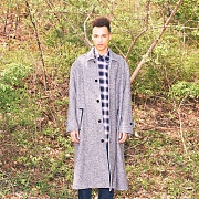 OVERSIZED TWEED COAT(GREY)