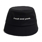LOGO BUCKET HAT -BLACK