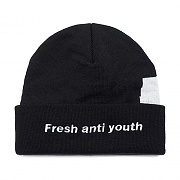 LOGO BEANIE-BLACK/YELLOW