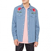 POPPY DENIM SHIRT-LBLUE