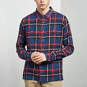 BIG POCKET FLANNEL SHIRT-NVY