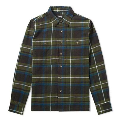 BIG POCKET FLANNEL SHIRT-OLIVE