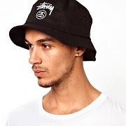 STOCK LOCK BUCKET HAT-BLK