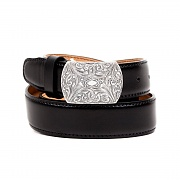 251# 1890 92.5 SILVER CW OFFICER BELT-WESTERN