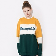LINE SWEAT SHIRT YELLOW