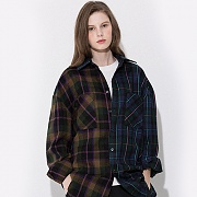 MIX CHECK SHIRTS JACKET