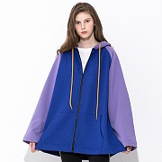 A FIT HOOD ZIPUP PURPLE