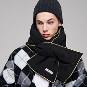 QUILTED MUFFLER_BLACK