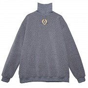 CROWN LOGO TURTLENECK SWEATSHIRT GREY