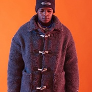 SHEEP HEAVY DUFFEL COAT (CHARCOAL)