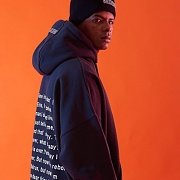 BACK MESSAGE BOXY HOODIE (BLACK)