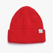 SLASH LOGO BEANIE (RED)