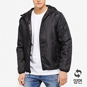 REVERSIBLE NYLON JACKET-BLK
