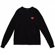 HEART ROSE LONG SLEEVE BLACK