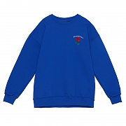 SINGLE ROSE CREWNECK SWEATSHIRT BLUE