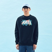 FLOWER BASED BIG LOGO SWEATSHIRT(BLACK)