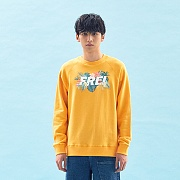 FLOWER BASED BIG LOGO SWEATSHIRT(YELLOW)