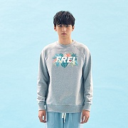 FLOWER BASED BIG LOGO SWEATSHIRT(GREY)