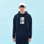 FLY TICKET PRINTED HOODIE(BLACK)