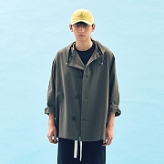 OVERSIZED MILITARY COAT(KHAKI)
