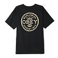 (163081681)OBEY DISSENT STANDARDS TEE-BLK