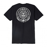 (163081682)OBEY SKULL AND WINGS TEE-BLK