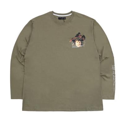 THE DRINK TAKES YOU L/S T-SHIRT - OLIVE GREEN