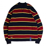 STRIPED MIDDLE NECK_NAVY