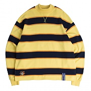 STRIPED MIDDLE NECK_BUTTER