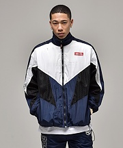 MESH TRACK SUIT JACKET_NAVY